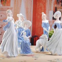 High Grade ceramic Goddess girls lady figurines home decor crafts room decor Wedding handicraft ornament porcelain statue 0510(China)