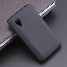 Black Color S Line Gel TPU Slim Soft Anti Skiding Case Back Cover For LG L4 II E440 E445 Mobile Phone Rubber silicone Bag Cases