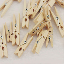 Cheap High Quality 50x Mini Wooden Natural Pegs Pack Of Small Favour Wedding Party Natural Clip Hot