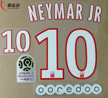 17/18 PSG HOME NEYMAR JR #10 SET +  Ligue 1 PATCH + OOREDOO NEYMAR JR #10 nameset