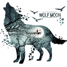 [SHIJUEHEZI] Horrific Wolf Moon Forest Wall Sticker PVC Material Modern DIY Decor for Living Room Bedroom Decoration muursticker(China)