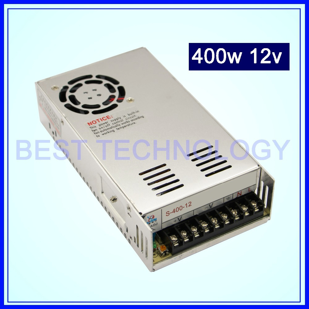 400W 12V DC Switch Power Supply, 33A ,Single Output!! For CNC Router Foaming Mill Cut Laser Engraver Plasma!!<br>