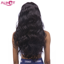 ALI HOT Brazilian Body Wave Full Lace Human Hair Wigs For Black Woman Baby Hair Pre Pluck Natural Hairline 12-24inch Remy Hair