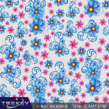 [Width 0.5M] 5 Sqm Blue Flower Water Transfer Printing Film HK808-S,  Hydrographic film, Decorative Material