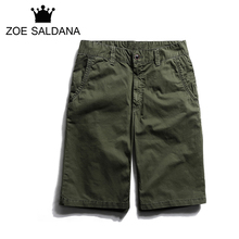 Zoe Saldana 2017 Summer Latest Men's Baggy Multi-Pocket Zipper Casual Leisure Solid Color Short Homme(China)