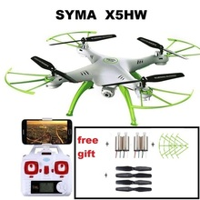 Original Syma X5HW 2.4G RC Drone RC quoadcopter with HD Camera FPV 2.4G 4CH RC Helicopter(China)