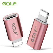 Golf Female to Micro USB Converter Charger Data Sync Charger Cable Android Male to 8 Pin Adapter For Apple iPhone 5 5S  6 7plus