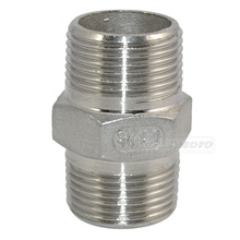 "MEGAIRON 3/4""Male*Male Hex Nipple M/M Stainless Steel SS304 Threaded Pipe Fittings 45mm Length"