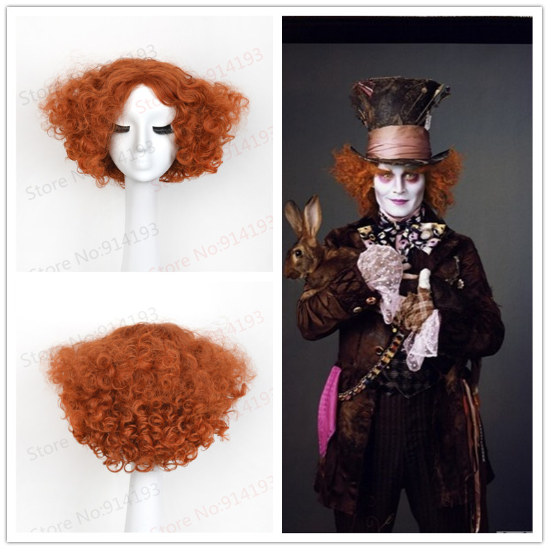 Adult Alice Electric Mad Hatter Halloween Wig Use Heat Resistat Synthetic Hair Evil Mad Hatter Costume<br><br>Aliexpress