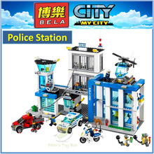 BELA Building Block 10424 Compatible with City Police Station 60047 Model Policeman Figures Educational Toys For Children Girls