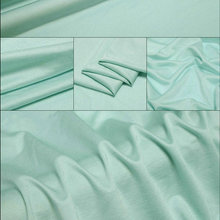 blue 100% Nature Silk Jersey Knit Fabric for silk dress
