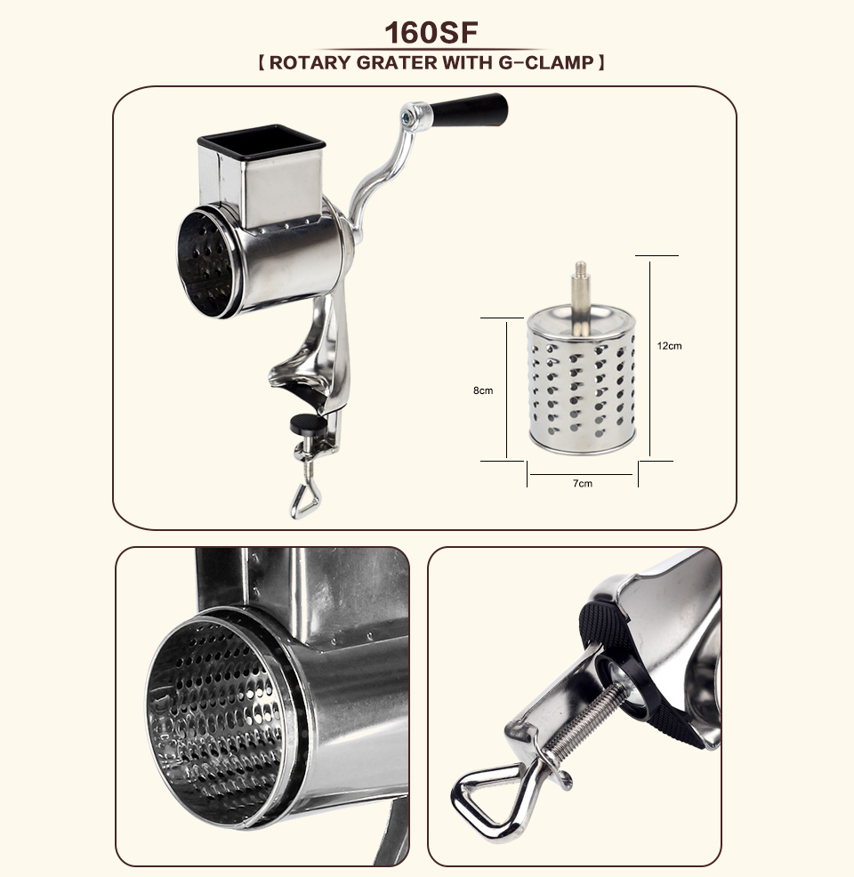 Multi functional kitchen rotary nut & cheese grater _04