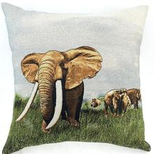 Manufacturers Selling Cartoon Lovely Elephant Yarn-dyed Jacquard Throw Cushion Cover For Home Furnishing Decorative Wholesale(China)