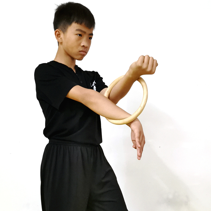 Wing Chun Kung Fu Combat Sport Hand Trainning Strength Kit Bamboo Rattan Ring US