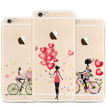 Bicycle Girl For Apple Iphone 5 Case Love Balloon For Iphone 5s Case TPU Soft Case
