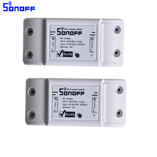 2pcs Sonoff Wireless Wifi Switch Universal Smart Home Automation Module Timer Diy intelligent Remote Control Via IOS Androidi
