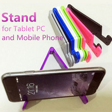 V-Shaped Universal Foldable Mobile Cell Phone Stand Holder for Smartphone & Tablet Samsung Adjustable Support Phone Holder(China)