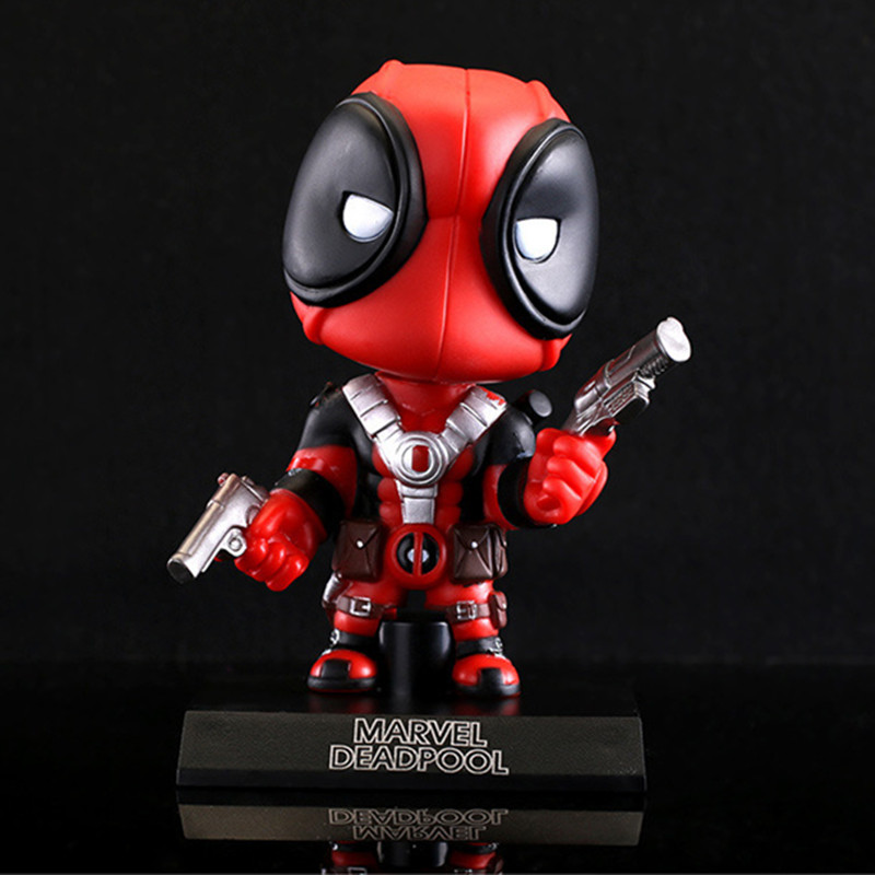Funko Pop X-Men Deadpool Figure Toy Wacky Wobbler Bobble Head Action Figures Doll 13.5cm With Base<br><br>Aliexpress