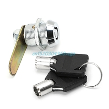 Drawer Tubular Cam Lock For Door Mailbox Cabinet Cupboard w/2 Keys 20mm #H028#