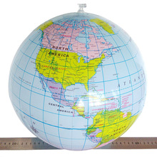 1Pcs 30cm PVC Inflatable World Globe Teach Education Geography Toy World Map ballon Toy Beach Ball For Kids Birthday Party Gifts