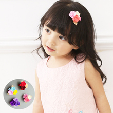 New Camellia Flower Hair Clips Cute Cartoon Hairpins for Girl pink Blue purple Red Barrettes Fashion Floral HairGrips accessory