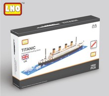 2017 New LNO 1800Pcs High Huality Large Titanic Ship Building Blocks Sets 3D Boat Model For Children Birthday Gifts Kids Toys