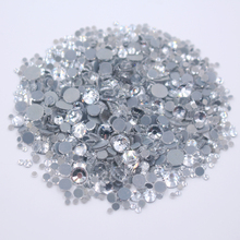 2500pcs Mix Color Mix Size Crystals Rhinestones Hotfix Flatback Crystals And Stones Iron On Rhinestone For Clothes Free Shipping(China)