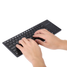 Ultra Thin QWERTY Wireless Bluetooth Keyboard Touchpad IPazzPort Backlight Support Multi-Touch Scrolling Bar For IOS Android(China)