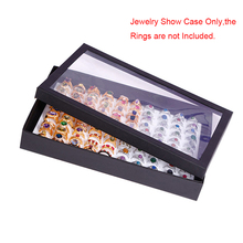 High Quanlity 100 Slots Rings Display Stand Storage Box Women Men Jewelry Organizer Holder Show Case Casket #228405