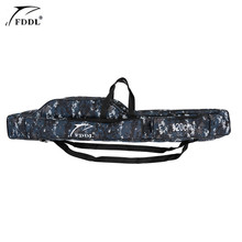1.2/1.3/1.5m Canvas Fishing Bag Outdoor Multifunctional Fishing Rod Carrier Fish Pole Lure Storage Bag Case Fishing Tackle Pesca(China)