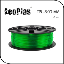 Worldwide Fast Delivery Manufacturer 3D Printer Material 1kg 2.2lb Soft 3mm Flexible Green TPU Filament(China)