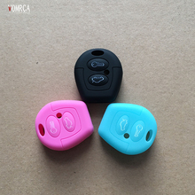 2 button silicone car key cover to protect the skin for the Volkswagen Volkswagen Polo Golf Pasat Bora Jetta SKODA FABIA key(China)