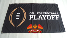 Col ege football play off flag 3ftx5ft Banner 100D Polyester Flag metal Grommets