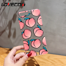 LOVECOM Fruits Phone Case For iPhone 7 6 6S Plus Transparent Soft TPU Many Juicy Peach Phone Back Cover Cases Best Gifts