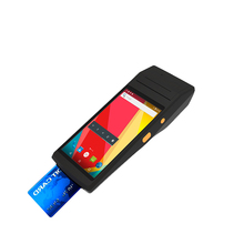 5.5 inch Wireless android 4G pos terminal mobile credit card reader with thermal printer