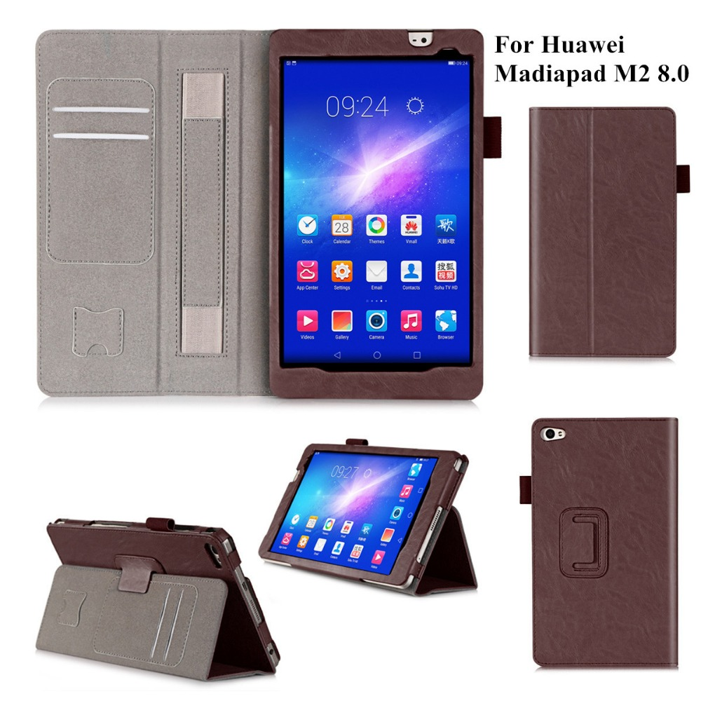 High Quality PU Leather Case Cover for Huawei MediaPad M2 8.0 M2-801W M2-803L Flip Stand Tablet Shell Cover with Hand Holder<br><br>Aliexpress