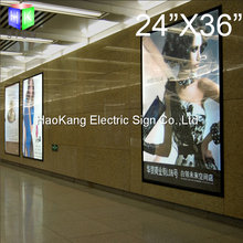24X36 inches led aluminum backlit movie poster frame light box advertising signs(China)