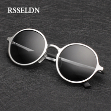 RSSELDN High Quality Aluminum Magnesium Sunglasses Men Round Driving Polarized Sun Glasses Male Eyewear Accessories Goggle