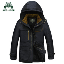 Winter jackets mens brand afs jeep jacket coat military parka men thicken warm mens winter parka with fur hood parka jacket men
