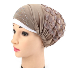 11 Colors Hot Drilling Headwear Headwrap African Head Wrap Twist Hair Band Turban Bandana Bandage Hijab Accessories India Cap
