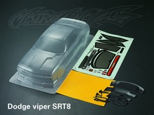 1/10 Scale 190MM Challenger SRT8 Dodge viper Clear PvC Body Onroad touring rc Drift EP cars for kyosho tamiya hpi fs redcat hsp