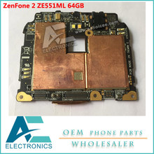 Motherboard for ASUS ZenFone 2 ZE551ML Mainboard 64GB Rom 4GB RAM Logic Board Circuits(China)