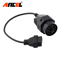 Adapter for BMW 20pin to 16pin cable OBD to OBD2 Female OBD2 Connector for BMW e36 e39 X5 Z3 Diagnostic Adapter 20pin Cable