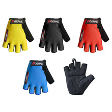 Buy Qepae Lycra Soft Breathable Half Finger Bicycle Gloves Women Men Cycling Glove GEL Bike Mittens Red Blue Black Outdoor Anti Slip for $4.38 in AliExpress store