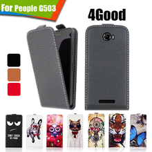 Newest Luxury Printed Cartoon PU Leather Up and Down 100% Special Flip case cover For 4Good People G503,Gift(China)