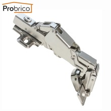 Probrico 20 Pair Soft Close Kitchen Cabinet Corner Folded Hinge 165 Degree CHW093HA Concealed Combination Cupboard Door Hinge(China)