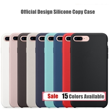 For iPhone 7 7s 6 6s Plus 5 5S SE Elegant Original Design Silicone Silicon Case Luxury Official Phone Cover with Logo Capa
