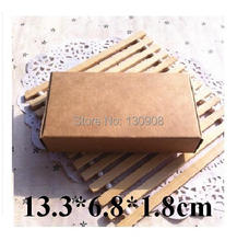 Joy foldable kraft cardboard paper box with no printing,small production packaging box Size 13.3*6.8*1.8cm(China)