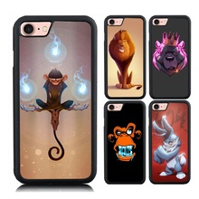 For iPhone 7 Plus Kung Fu Monkey Case Fierce Rabbit Magic Art Painting Cases Soft TPU + Hard PC Back Cute Cover for iPhone 6 6s(China)