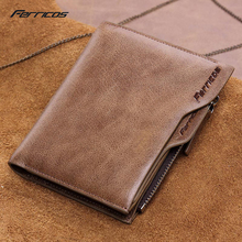 Luxury 100% Genuine Leather Wallet Fashion Short Bifold Men purse Casual Soild Men Wallets With Coin Pocket Purse Male Wallet